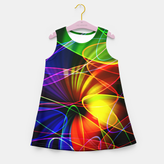 Thumbnail image of Psychedelic Fractal Girl's summer dress, Live Heroes