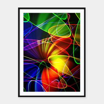 Thumbnail image of Psychedelic Fractal Framed poster, Live Heroes