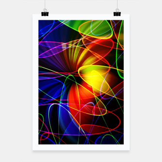 Thumbnail image of Psychedelic Fractal Poster, Live Heroes