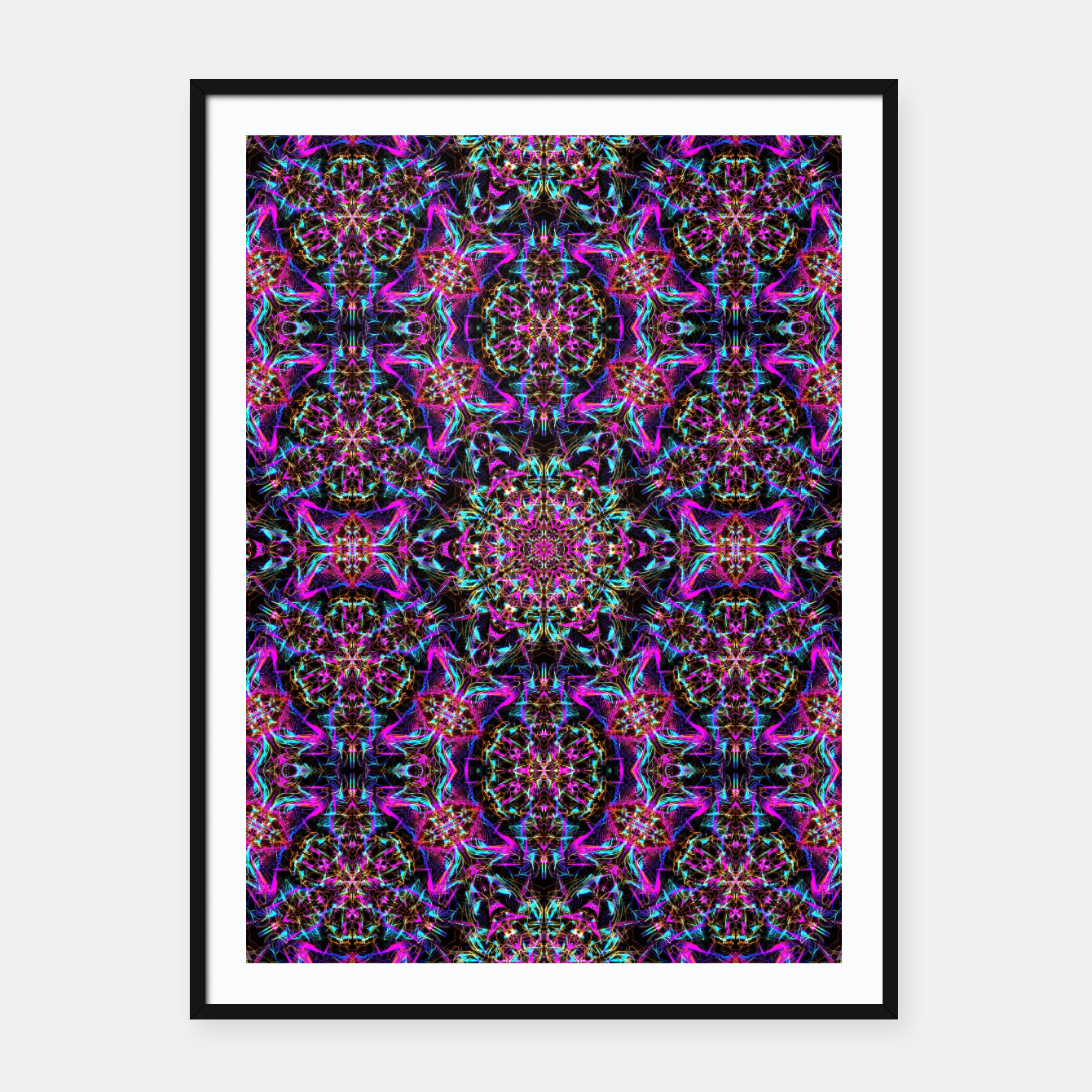 Zdjęcie Neon Psychedelic Mandala I Framed poster - Live Heroes