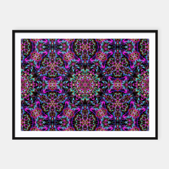 Miniaturka Neon Psychedelic Mandala I Framed poster, Live Heroes