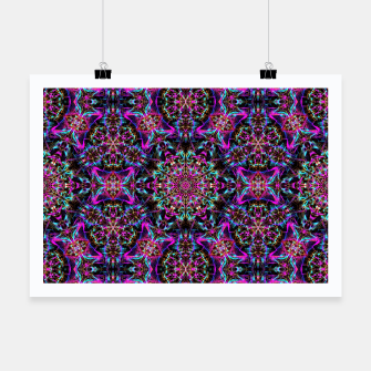 Miniaturka Neon Psychedelic Mandala I Poster, Live Heroes