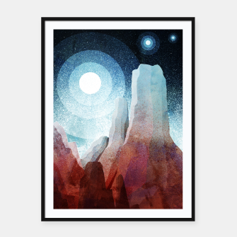 Thumbnail image of A rocky World Framed poster, Live Heroes