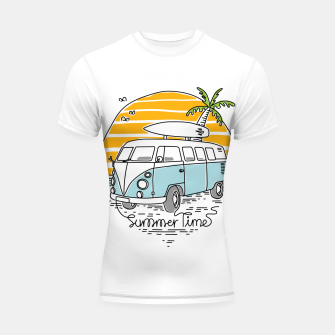 Thumbnail image of Summer Time Shortsleeve rashguard, Live Heroes