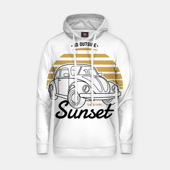 Miniature de image de Go Outside and Get More Sunset Hoodie, Live Heroes