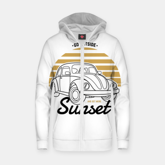 Miniature de image de Go Outside and Get More Sunset Zip up hoodie, Live Heroes