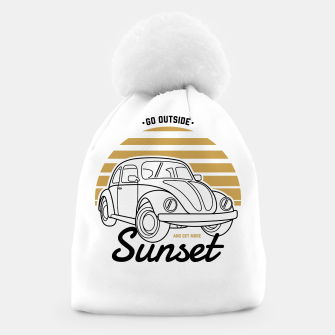 Miniature de image de Go Outside and Get More Sunset Beanie, Live Heroes