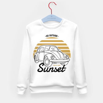 Miniature de image de Go Outside and Get More Sunset Kid's sweater, Live Heroes