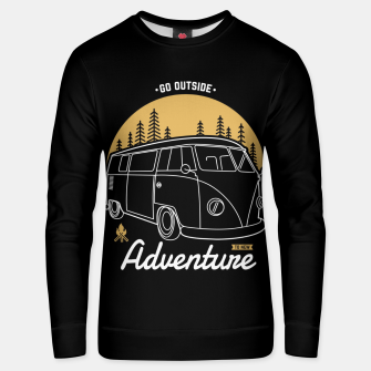 Miniatur Go Outside to New Adventure Unisex sweater, Live Heroes