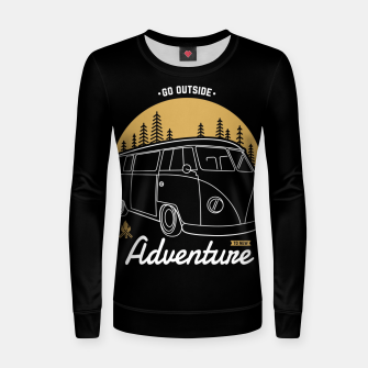 Miniatur Go Outside to New Adventure Women sweater, Live Heroes