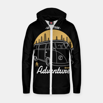 Miniatur Go Outside to New Adventure Zip up hoodie, Live Heroes