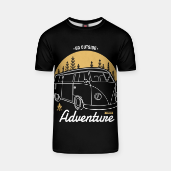 Miniatur Go Outside to New Adventure T-shirt, Live Heroes