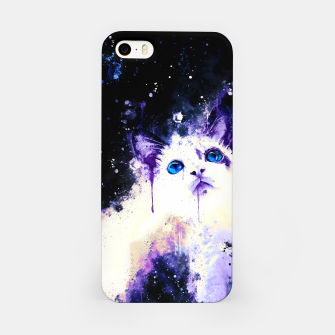 Miniatur cat blue eyes 2 wsml iPhone Case, Live Heroes