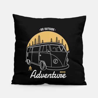 Miniatur Go Outside to New Adventure Pillow, Live Heroes