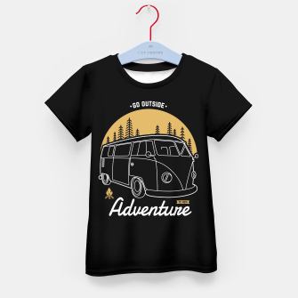 Miniatur Go Outside to New Adventure Kid's t-shirt, Live Heroes
