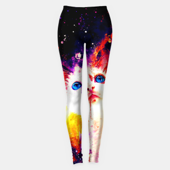 Miniatur cat blue eyes 2 wsstd Leggings, Live Heroes