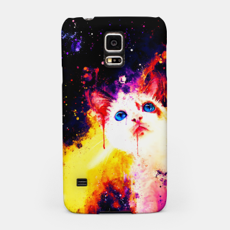 Miniatur cat blue eyes 2 wsstd Samsung Case, Live Heroes