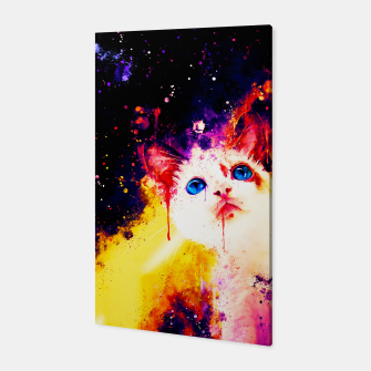 Miniatur cat blue eyes 2 wsstd Canvas, Live Heroes