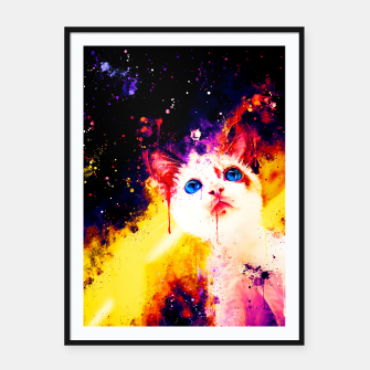 Miniatur cat blue eyes 2 wsstd Framed poster, Live Heroes
