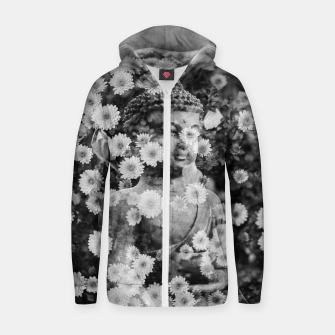 Thumbnail image of Buddha Zip up hoodie, Live Heroes