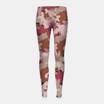 Thumbnail image of Camouflage 96  Girl's leggings, Live Heroes