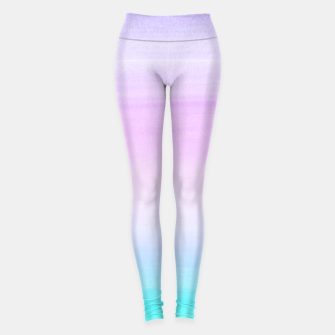 Miniatur Touching Unicorn Girls Watercolor Abstract #1 #painting #decor #art  Leggings, Live Heroes
