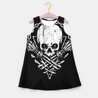 Miniatur Death by Squence Girl's summer dress, Live Heroes