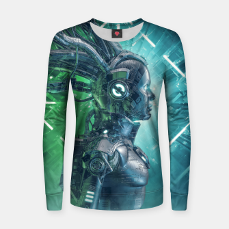 Thumbnail image of The Little Carbon Girl Women sweater, Live Heroes