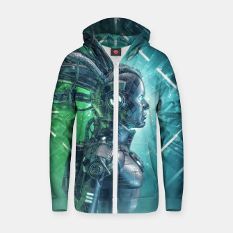 Thumbnail image of The Little Carbon Girl Zip up hoodie, Live Heroes
