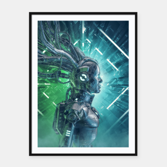 Thumbnail image of The Little Carbon Girl Framed poster, Live Heroes