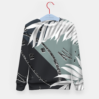 Miniatur Night Palms Cali Vibes Abstract Glitter Glam #2 #tropical #decor #art  Kindersweatshirt, Live Heroes