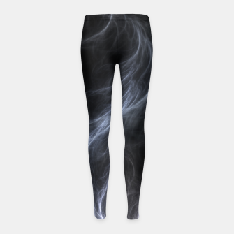 Filament Cloud Fractal Art Girl's leggings thumbnail image