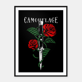 Thumbnail image of Camouflage Framed poster, Live Heroes