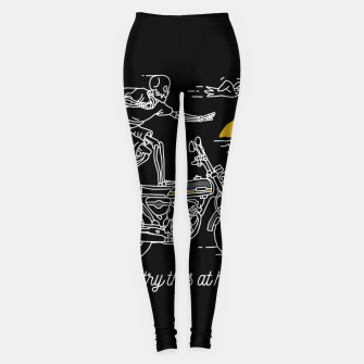 Thumbnail image of Dont Try This at Home Leggings, Live Heroes