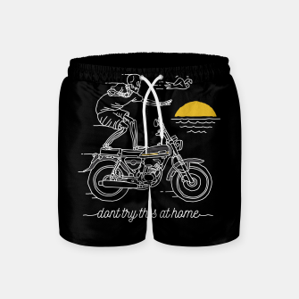 Thumbnail image of Dont Try This at Home Swim Shorts, Live Heroes