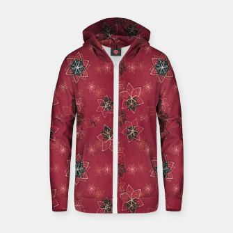 Miniatur Modern Floral Collage Print Pattern Zip up hoodie, Live Heroes