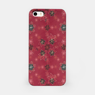 Miniatur Modern Floral Collage Print Pattern iPhone Case, Live Heroes