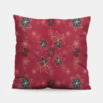 Miniatur Modern Floral Collage Print Pattern Pillow, Live Heroes