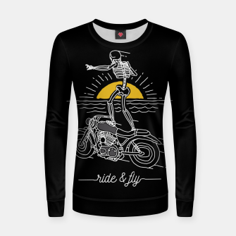 Miniatur Ride and Fly Women sweater, Live Heroes
