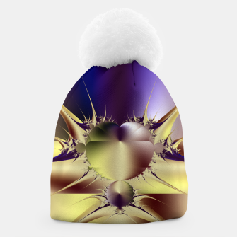 Miniatur Abstract Fractal Art Beanie, Live Heroes