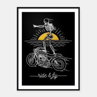 Miniatur Ride and Fly Framed poster, Live Heroes