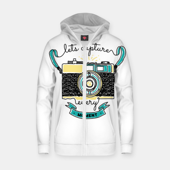 Thumbnail image of Let's Capture Every Moment Zip up hoodie, Live Heroes