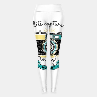 Thumbnail image of Let's Capture Every Moment Leggings, Live Heroes