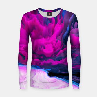 Thumbnail image of Angelic Devil Glitched Fluid Art Women sweater, Live Heroes