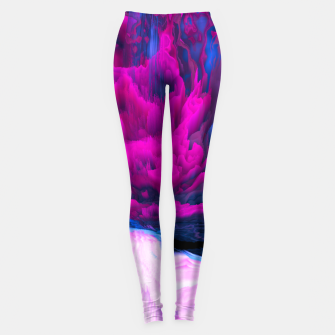 Thumbnail image of Angelic Devil Glitched Fluid Art Leggings, Live Heroes