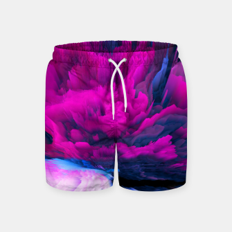 Thumbnail image of Angelic Devil Glitched Fluid Art Swim Shorts, Live Heroes