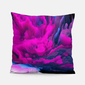 Thumbnail image of Angelic Devil Glitched Fluid Art Pillow, Live Heroes