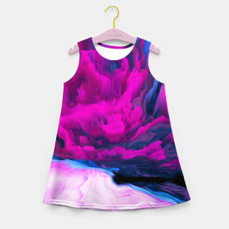 Thumbnail image of Angelic Devil Glitched Fluid Art Girl's summer dress, Live Heroes
