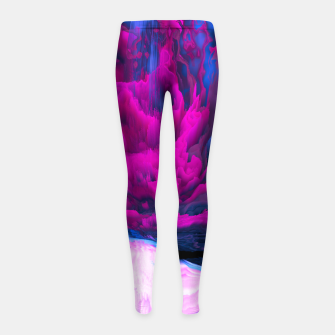 Thumbnail image of Angelic Devil Glitched Fluid Art Girl's leggings, Live Heroes