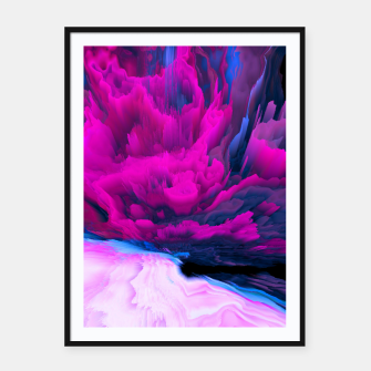 Thumbnail image of Angelic Devil Glitched Fluid Art Framed poster, Live Heroes